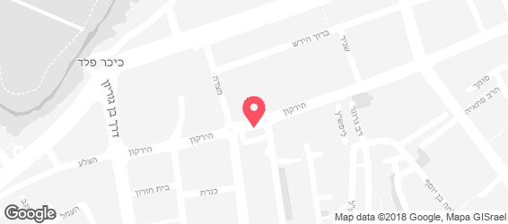 חומוס אליהו בני ברק - מפה