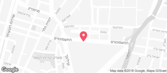 חומוס הבוטקה - מפה