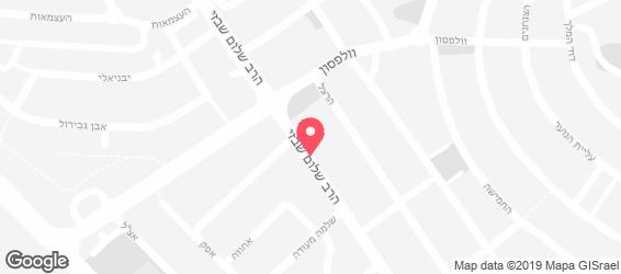 השניצליה סנדויץ' בר - ערון - מפה