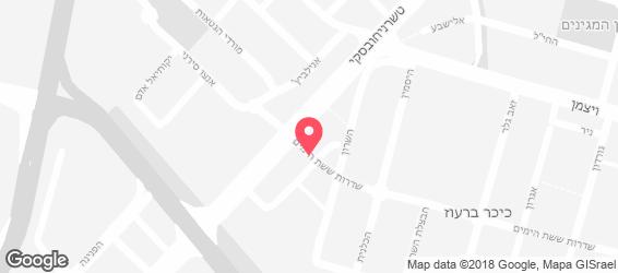 פיצה לונה גרין - מפה