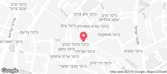 חתול הבר-חמארה ירושלמית - מפה