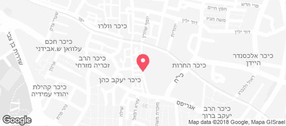 בורגרס בר, מחנה יהודה - מפה
