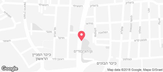 גולדה הגלידה העברית הראשונה - מפה