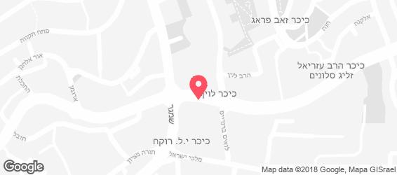 פיצה אורי ירושלים - מפה