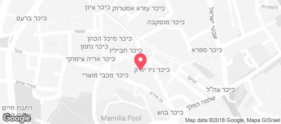 בורגר מרקט מרכז העיר - מפה