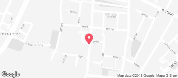 סומבררו גן יבנה - מפה