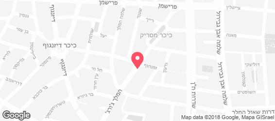 נאם קינג גורג - מפה