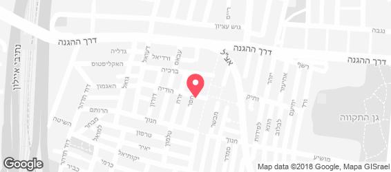 הקובייה תל אביב - מפה