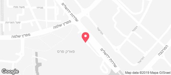 מסעדת ״ משפחת שכטר״ - מפה