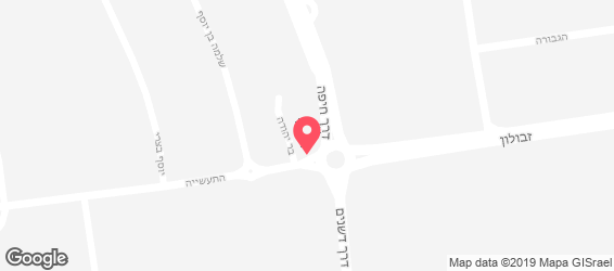 מגננ'ה מסעדה אתיופית - מפה