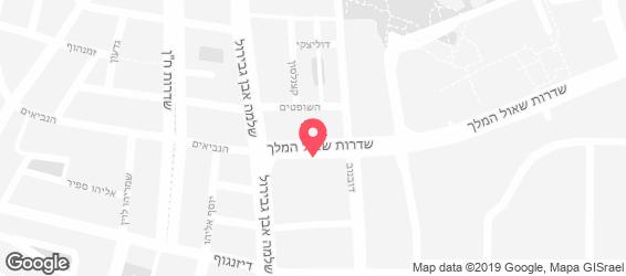 הלבנונית אבו גוש תל אביב - מפה