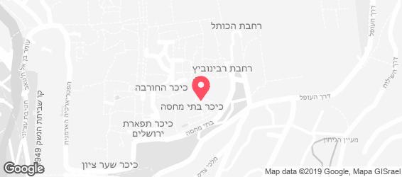 חומוס הרובע - מפה
