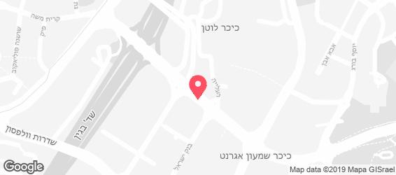 אגאדיר ירושלים - מפה