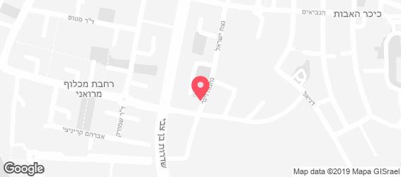 קרייזי פיצה החדש נתניה - מפה