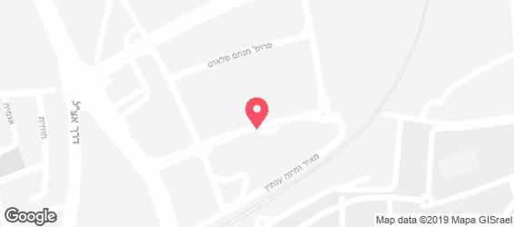 אלריי בשרים רחובות - מפה