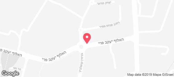 השניצלן רחובות - מפה