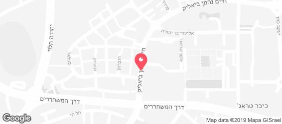 חומוס אברהם באר שבע - מפה