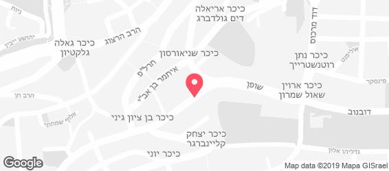 הארוויס בורגר שאק - מפה