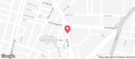השניצליה תל אביב - מפה