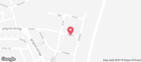 בורגרים - מפה
