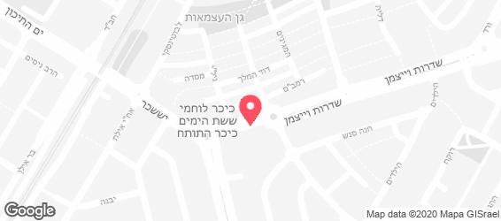השניצליה קרית מוצקין - מפה