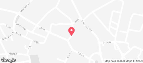 חומוס בר בכפר - מפה
