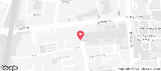 דרבי-בר דגים רמת אביב - מפה
