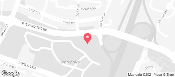 לבל אפ גיימינג בר - LVLUP - מפה