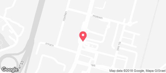 בורגראנץ' נתניה - מפה