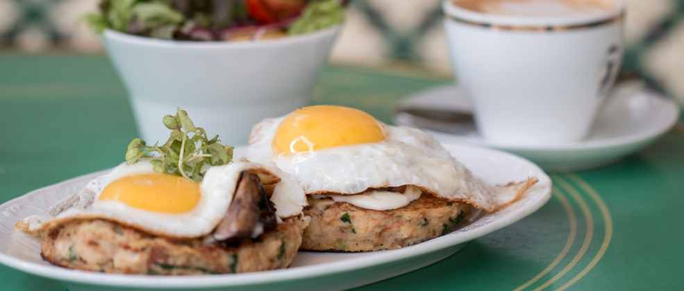 ארוחת בוקר בקפה קדוש ירושלים (צילום: אתי נמיר)