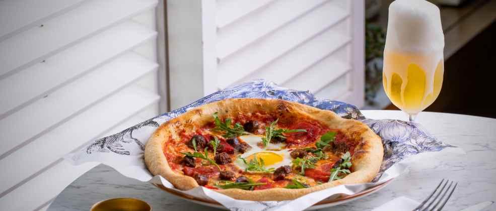 פיצה מרגז במסעדת הולה (צילום: גיל אבירם)
