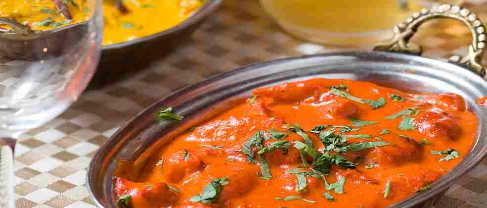 צ'יקן מסאלה של מסעדת אינדירה (צילום: בועז לביא)